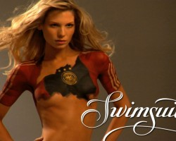 World Cup Body Painting: Sarah Brandner Wearing Nothing But PAINT!