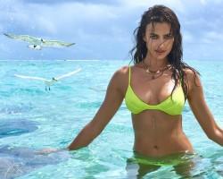 Irina Shayk Swims with Sharks in Tahiti